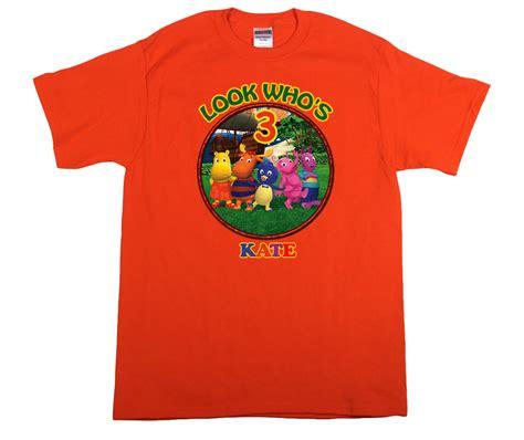 backyardigans personalized orange birthday shirt  shirts