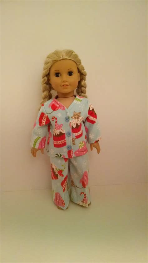 Handmade Doll Clothes For 18 Inch Dolls - american doll clothes handmade 18 inch pajamas are light