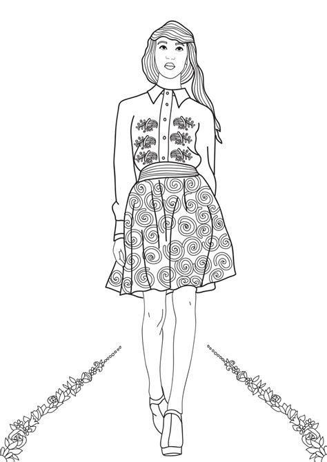 fashion show coloring pages  adults