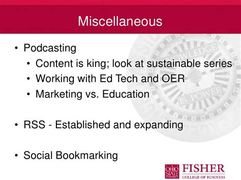 Course Catalog Osu Mba by Web Marketing And Social Media Tool Use