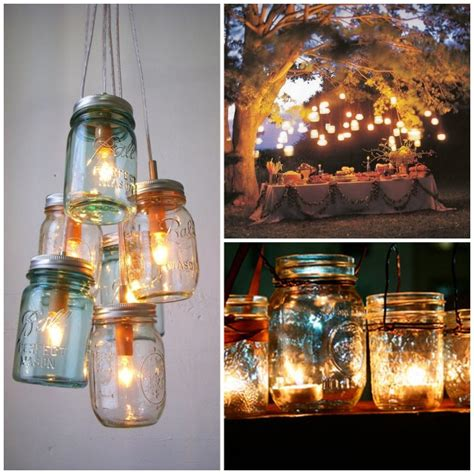 Jar Patio Lights by 20 Of The Best Jar Projects Outdoor Lighting