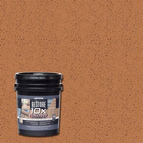 rust oleum restore  gal  advanced cedartone deck