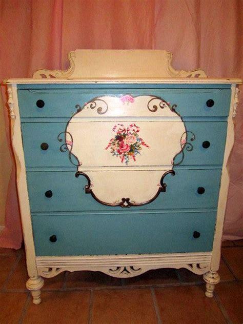 quot flower garden quot painted dresser shabby chic painted dresser chest of drawers painted or