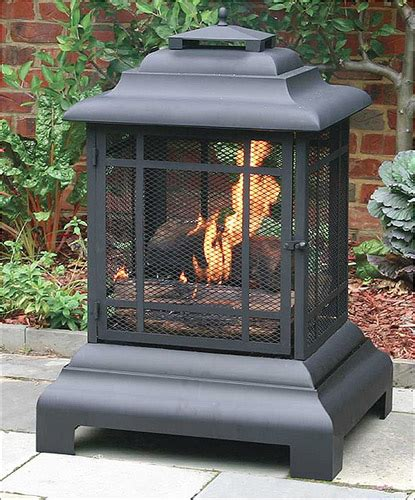Patio And Fireplace Store by Sense Black Powder Coated Steel Pagoda Patio Fireplace