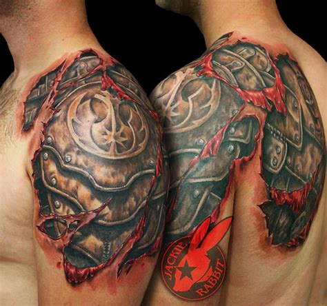 star wars rebel symbol armor tear out realistic 3d tattoo