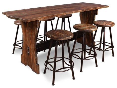 7 Piece Round Dining Room Set by Sunset Trading 7 Piece Cabo Counter Height Pub Table Set