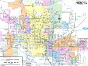 Phoenix Area Map by Phoenix Map Free Printable Maps