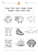 First sh Words Worksheet sh | Teaching Resources