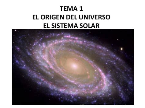 el origen del universo 848441891x tema 1 el origen del universo el sistema solar