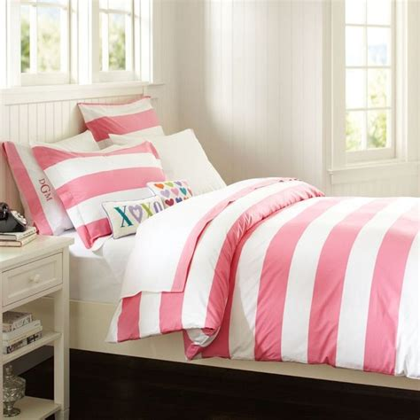 Pink Duvet Cottage Stripe Duvet Cover Sham Bright Pink Duvet