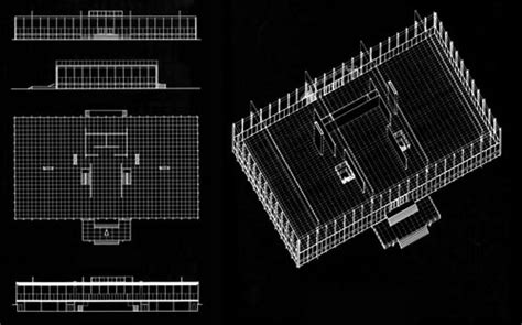 Philip Johnson Offical Glass House Building Floor Plans Scaled by Architecture Icons Daily Icon Part 6