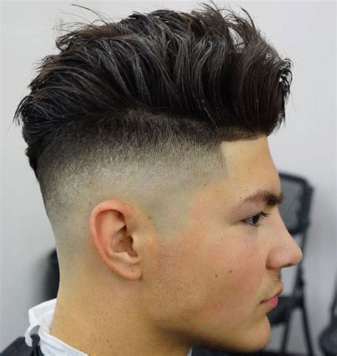 mens afro faded sides long on top hairstyles 21 top men s fade haircuts 2018