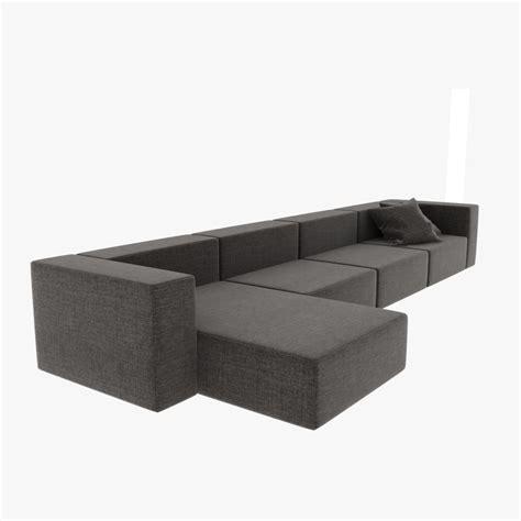 3d divani sofa wall 3d max