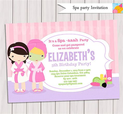 20 Spa Party Invitations Psd Vector Eps Jpg Download Freecreatives Free Printable Spa Invitations Templates