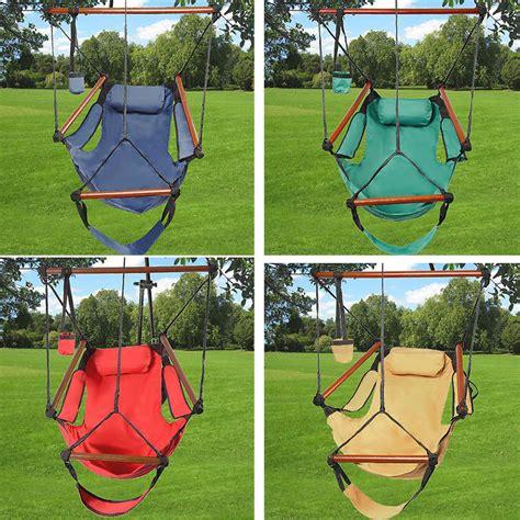indoor rope swing hammock chair swing seat indoor outdoor garden patio yard
