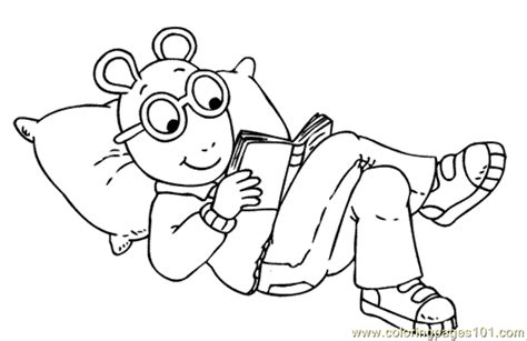 Reading Coloring Pages Printable | coloring pages arthur reading cartoons gt arthur free