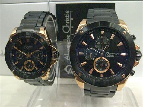 Alexandre Christie Ac 8410 Original Black Gold Sepasang jual alexandre christie ac 6247 black gold
