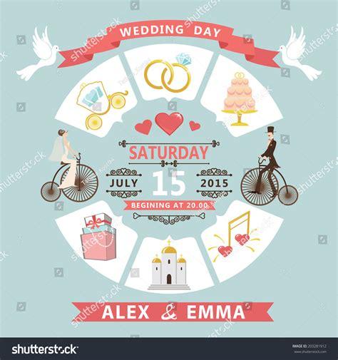 Wedding Infographic Set Cartoon Bride Groomwedding Stock Vector 203281912 Shutterstock Wedding Infographic Template