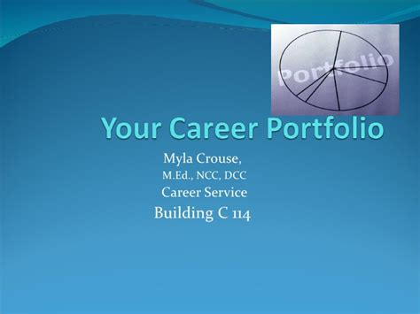 career portfolio template career portfolio cover page template