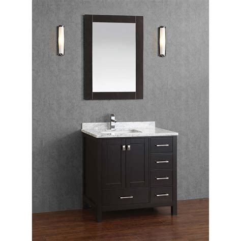 Wood Bathroom Vanity Buy Vincent 36 Inch Solid Wood Single Bathroom Vanity In Espresso Hm 13001 36 Wmsq Esp