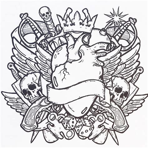 tattoo design coloring pages designs colouring book colour me awesome