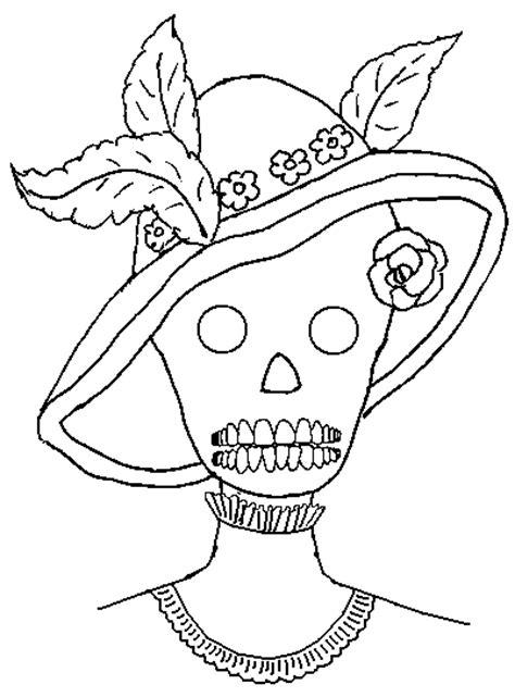 pinto dibujos dibujo para colorear de calaveras de da de pinto dibujos calaveras d 237 a de muertos para colorear