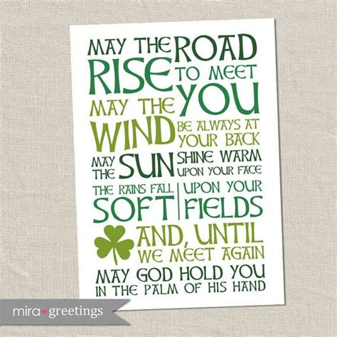 printable irish quotes irish blessing digital art may the road rise to meet you