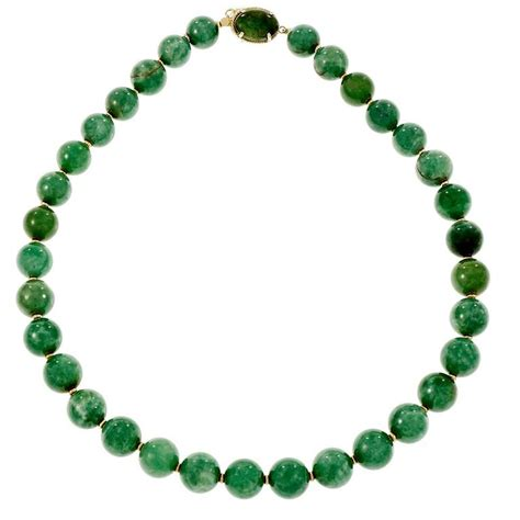 big bead necklaces large jadeite jade bead gold necklace at 1stdibs