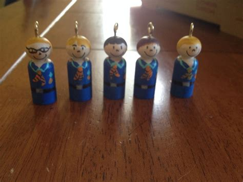 christmas crafts for tiger scouts cub scout peg doll ornaments peg ornament dolls and craft