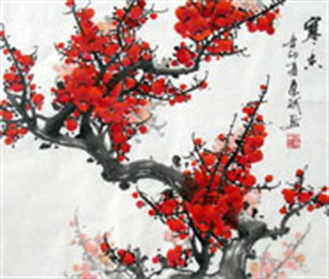 Hn110 Lukisan Lucky 8 Horses plum blossom paintings for sale