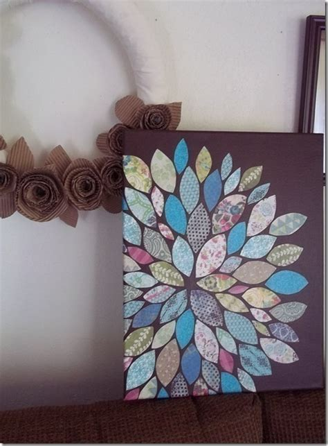 paper scraps flower wall art   create  drawing