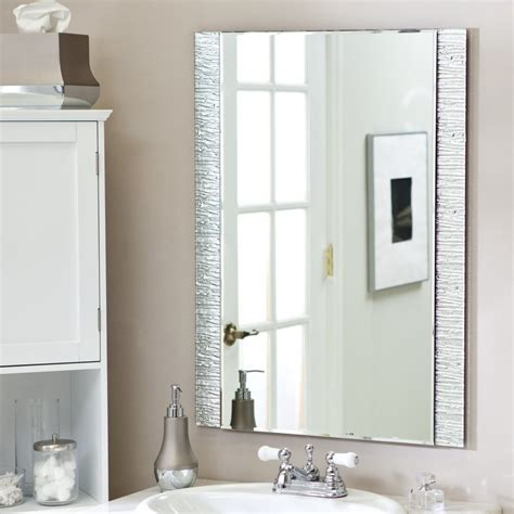 Bathroom Mirror Design Ideas Brilliant Bathroom Vanity Mirrors Decoration Simple Wall Mounted Bathroom Mirror Design Ideas