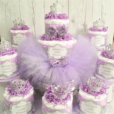 Lavender And Silver Pri Ess Tutu Diaper Cake Centerpiece