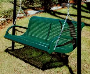metal swing bench park and patio bench swing thermoplastic coated park benches belson outdoors