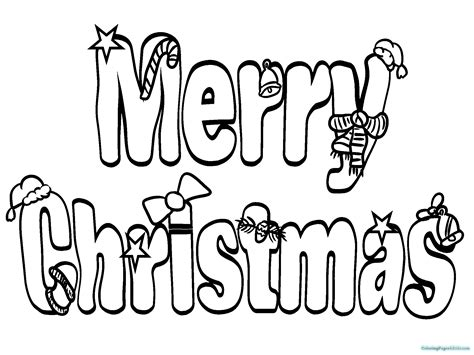 merry christmas word coloring pages coloring pages  kids