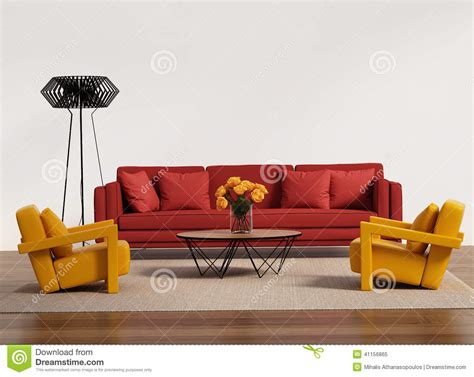 contemporary living room sofa contemporary living room with sofa stock photo image