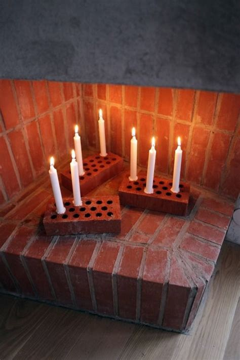 diy candle stick brick diy pyssel fireplaces