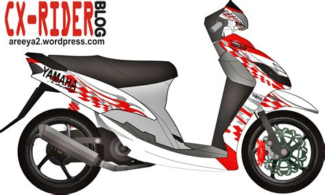 Best Sticker Striping Motor Stiker Mio Sporty Tech3 Spec B Terlaris koleksi modifikasi motor mio cutting stiker terbaru