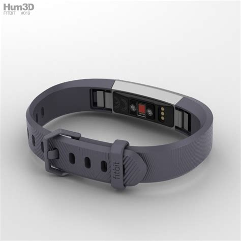 Fitbit Alta Blue fitbit alta hr blue gray 3d model hum3d
