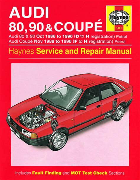 car service manuals pdf 1992 audi 80 instrument cluster audi 80 90 coupe petrol oct 86 90 d to h haynes publishing