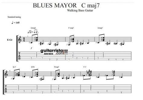 tutorial walking bass walking bass guitar 2 blues mayor guitarrista