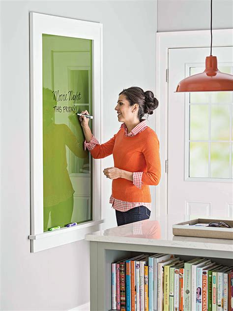 kitchen message board ideas remodelaholic glass wall mounted erase message board plan