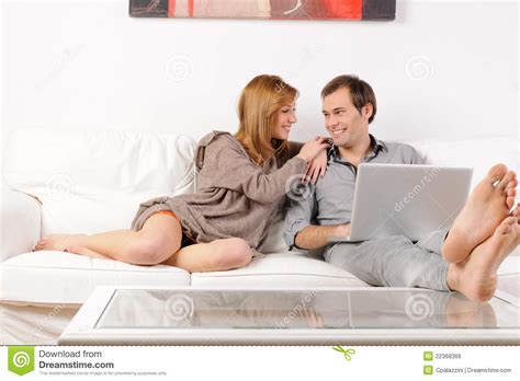 Couples Free Web Royalty Free Stock Image Smiling Browsing The Web