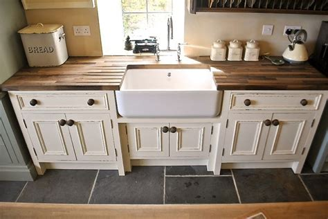 free standing kitchen sink units uk love this belfast sink and wooden draining board