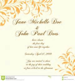 format of wedding invitation card in wedding card or invitation with abstract floral ba large and small fonts with brown colors and