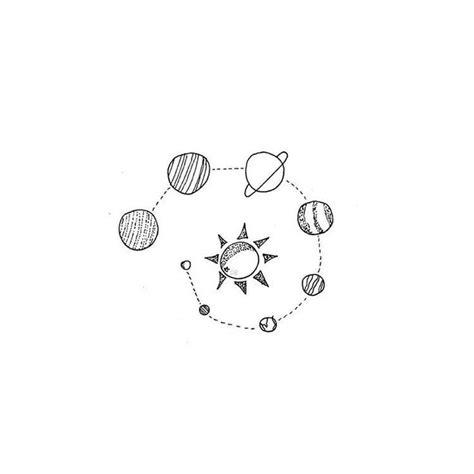 minimalist universe tattoo an early morning walk tattoos pinterest solar system
