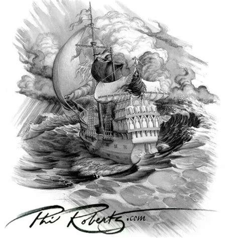 pirate skeleton sitting tattoo design skull pirate ship potential ideas