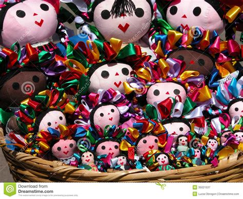traditional mexican rag dolls traditional mexican dolls stock image image of dresses