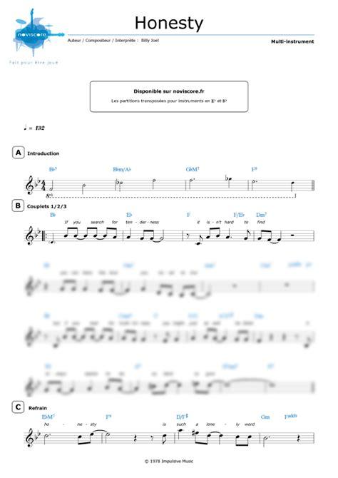 tutorial piano honesty partition piano honesty billy joel