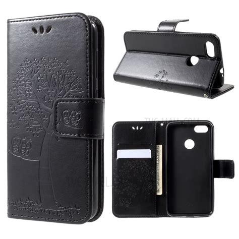 Huawei P9 Lite Genuine Leather Casing Kulit Origin Diskon imprint tree owl leather wallet stand for huawei p9 lite mini y6 pro 2017 enjoy 7 black
